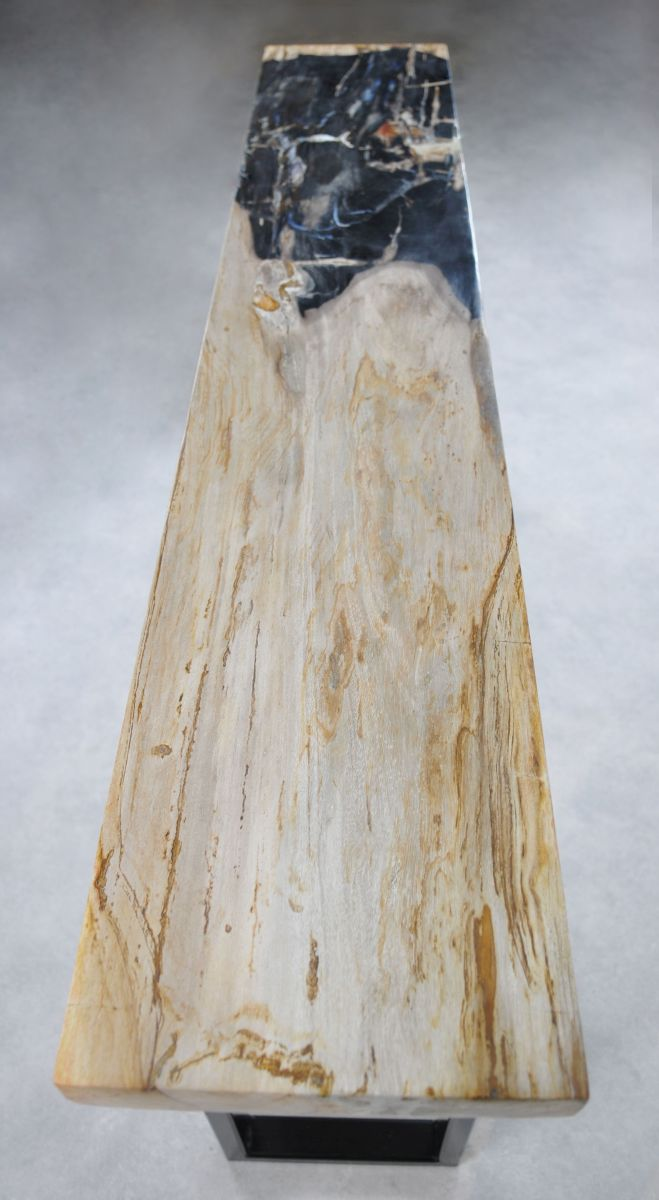 Console table petrified wood 35123