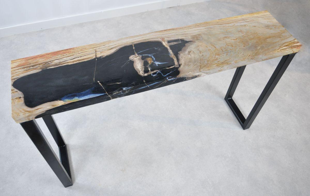 Consoletafel versteend hout 35118