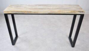 Consoletafel versteend hout 35119