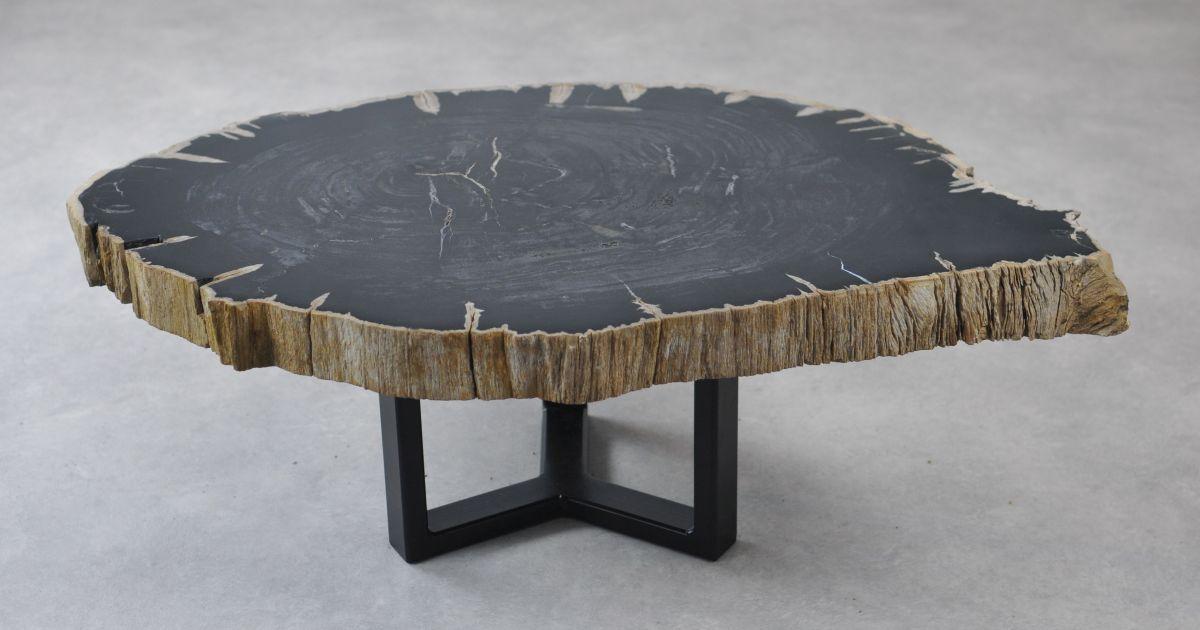 Salontafel versteend hout 35135