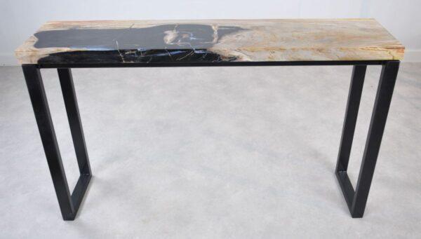 Table console bois pétrifié 35118