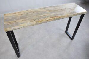 Table console bois pétrifié 35122