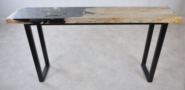 Table console bois pétrifié 35123