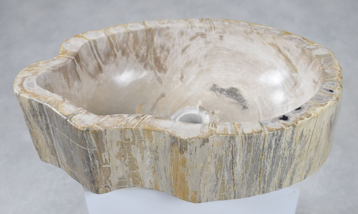 Lavabo bois pétrifié 30049