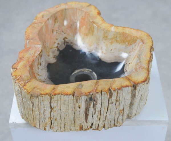 Lavabo bois pétrifié 32571
