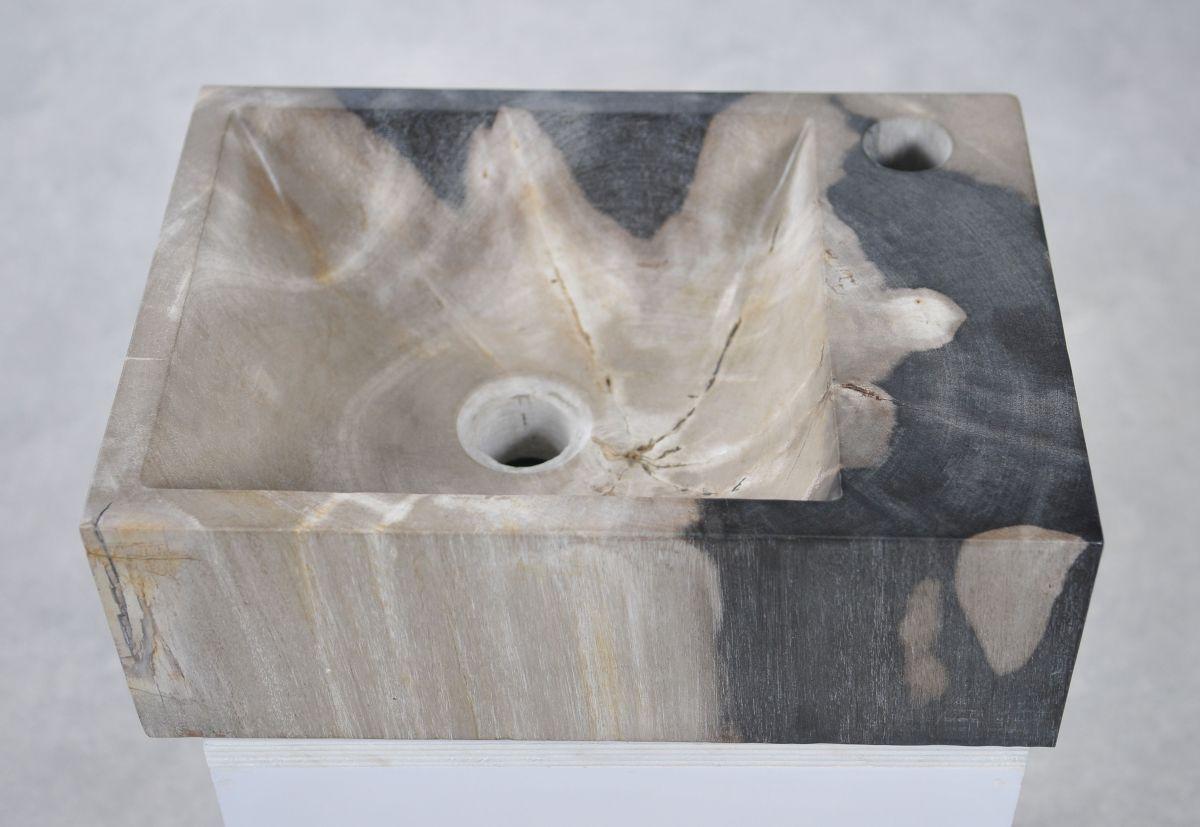 Lavabo bois pétrifié 34416