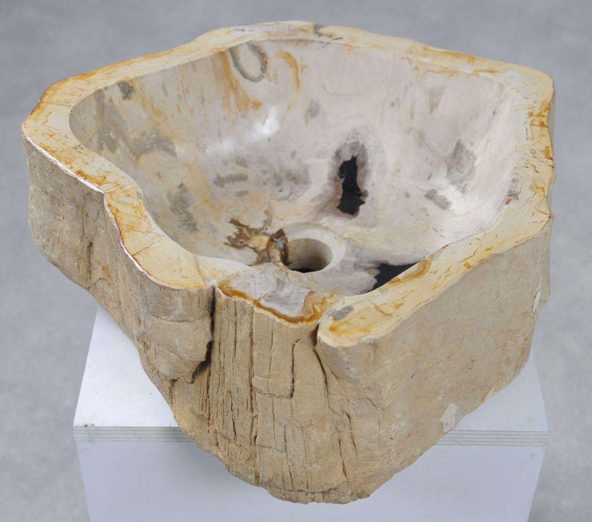 Lavabo madera petrificada 31499