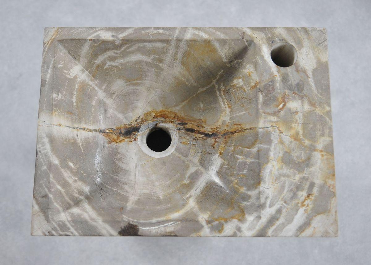 Lavabo madera petrificada 34421