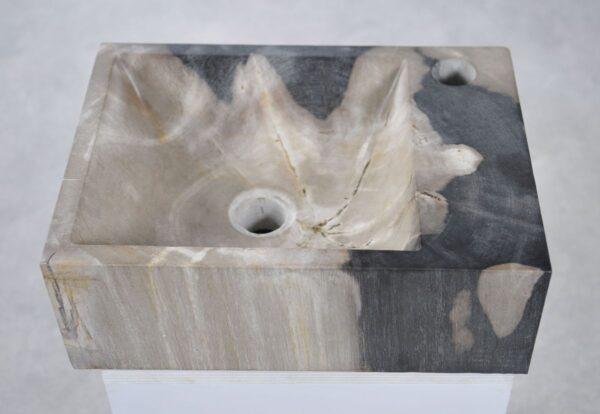 Waschbecke versteinertes Holz 34416