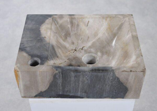 Waschbecke versteinertes Holz 34417