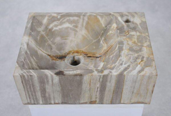 Waschbecke versteinertes Holz 34421