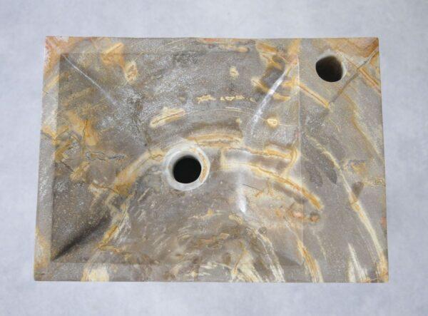 Waschbecke versteinertes Holz 34429