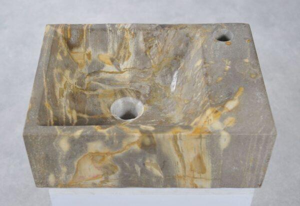 Waschbecke versteinertes Holz 34430