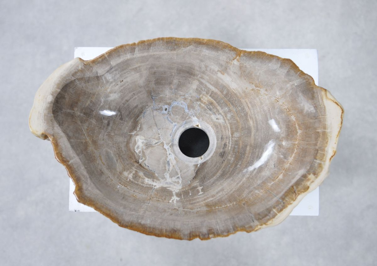 Wash hand basin petrified wood 28742