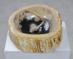 Wash hand basin petrified wood 32570