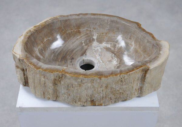 Wastafel versteend hout 28742