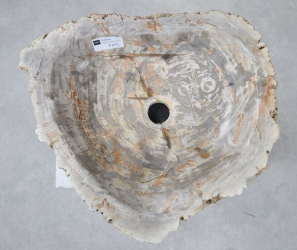 Wastafel versteend hout 34396