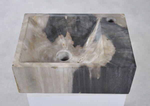 Wastafel versteend hout 34417