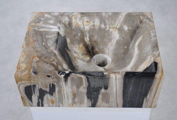 Wastafel versteend hout 34423