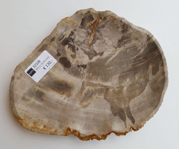Assiette bois pétrifié 32108a