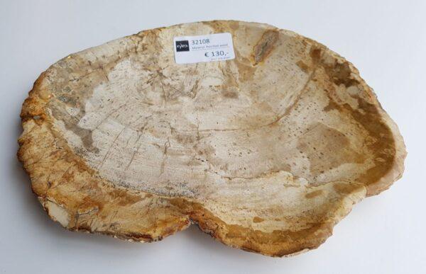 Assiette bois pétrifié 32108b