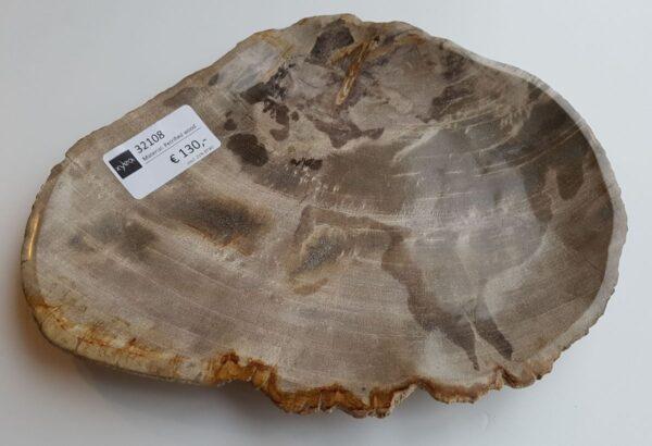 Plato madera petrificada 32108a