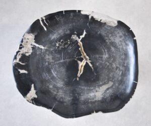 Plato madera petrificada 35010
