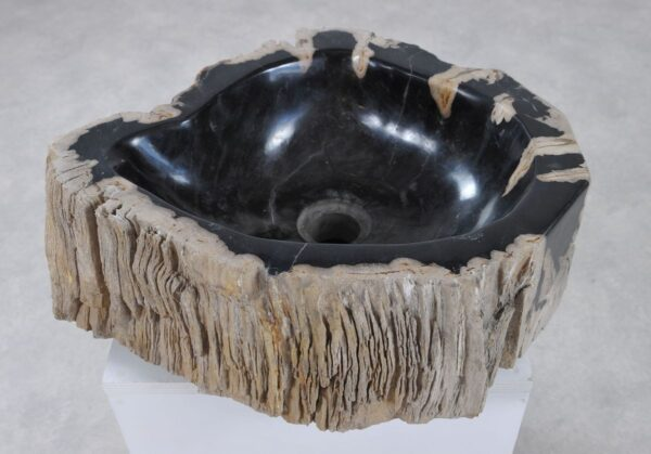 Lavabo madera petrificada 36331