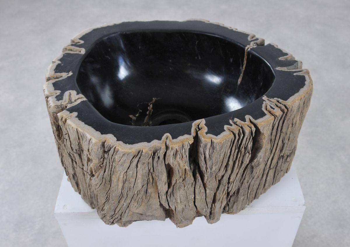 Lavabo madera petrificada 36342