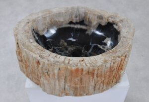 Lavabo madera petrificada 36350