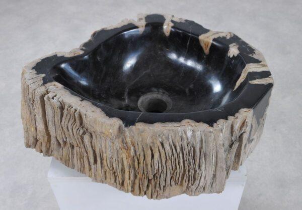 Waschbecke versteinertes Holz 36331