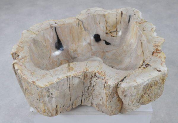 Waschbecke versteinertes Holz 36336
