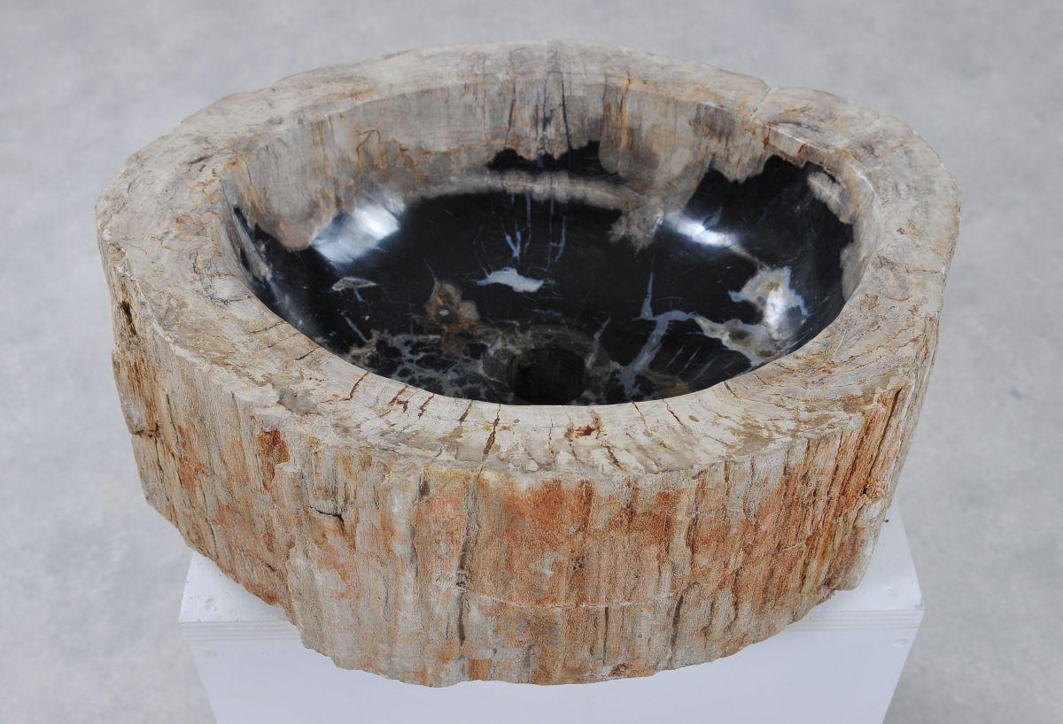 Waschbecke versteinertes Holz 36350