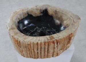 Waschbecke versteinertes Holz 36352
