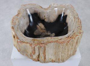 Waschbecke versteinertes Holz 36360