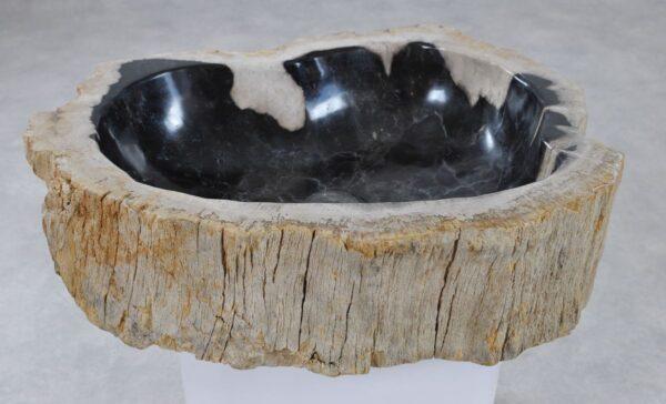 Waschbecke versteinertes Holz 36362