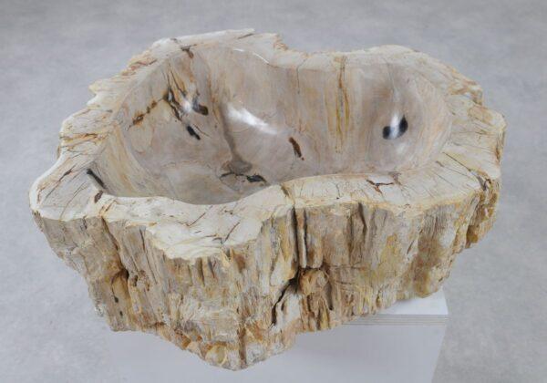 Wastafel versteend hout 36336