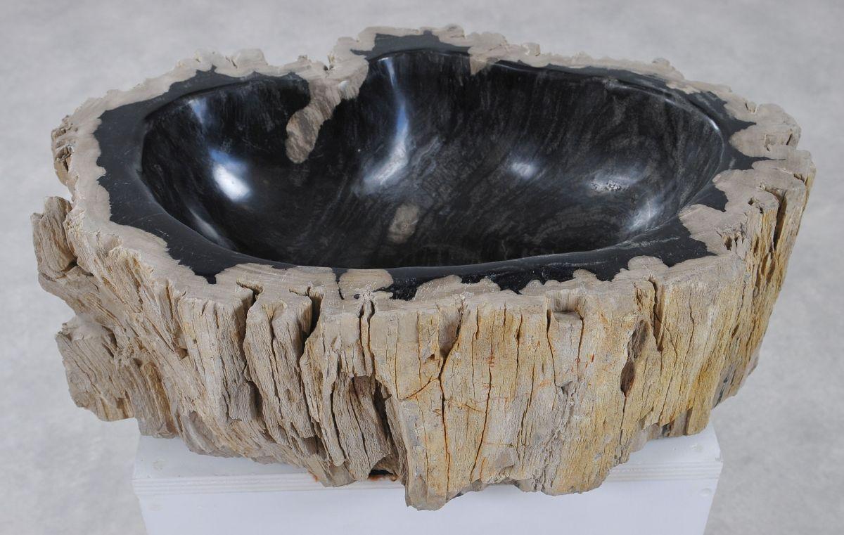 Wastafel versteend hout 36339