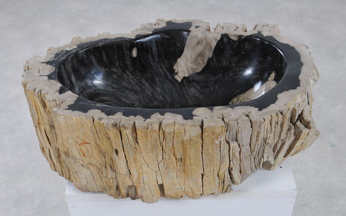 Wastafel versteend hout 36340