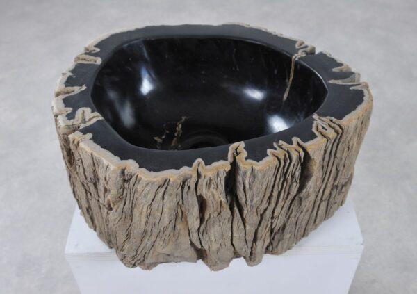 Wastafel versteend hout 36342