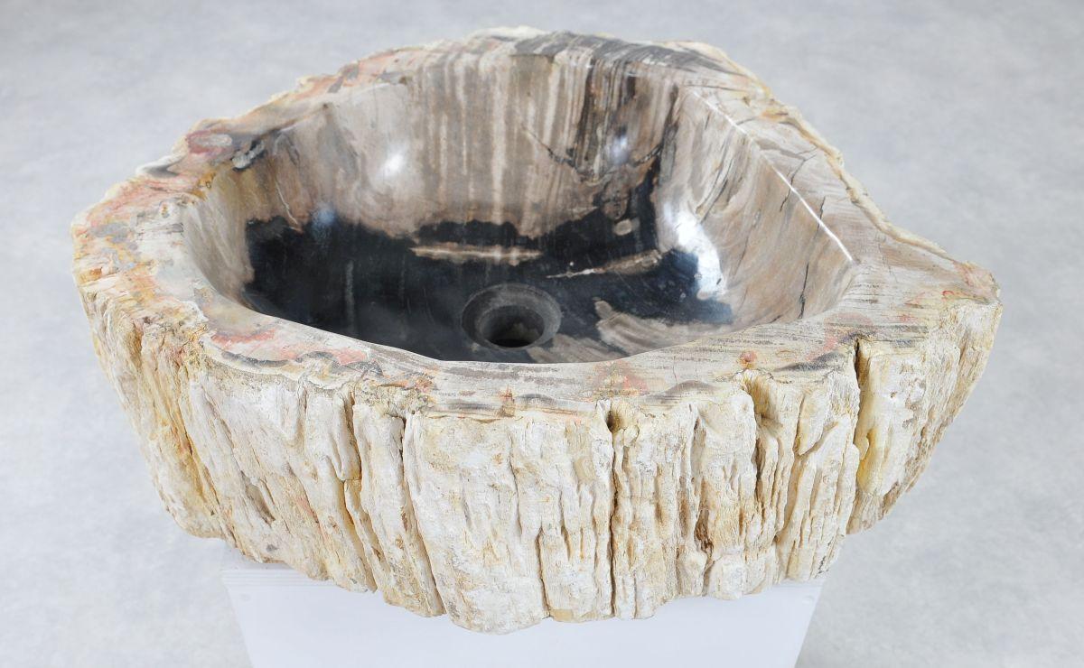 Wastafel versteend hout 36349