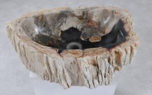 Wastafel versteend hout 36361