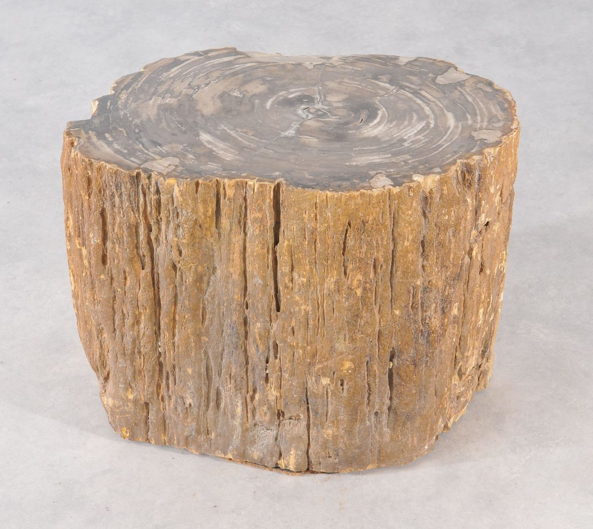 Bijzettafel versteend hout 36012
