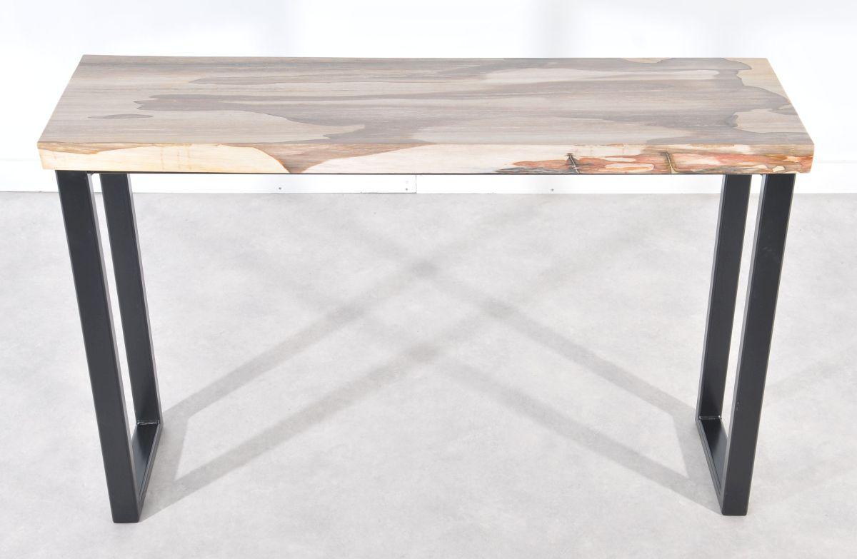 Console table petrified wood 36112