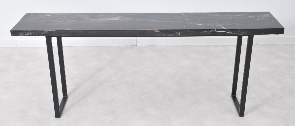 Console table petrified wood 36121