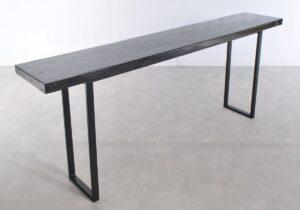 Console table petrified wood 36137