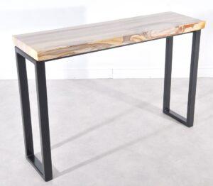 Consoletafel versteend hout 36113