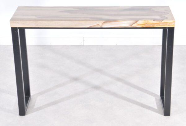 Consoletafel versteend hout 36115