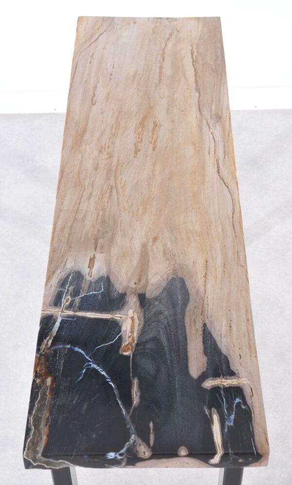 Consoletafel versteend hout 36116