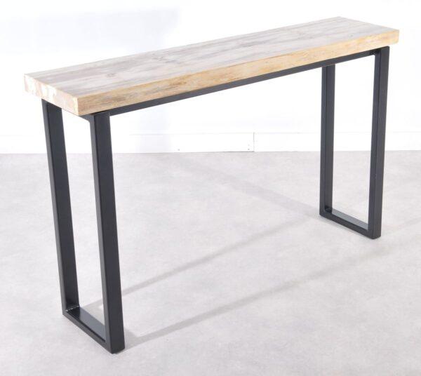 Consoletafel versteend hout 36117